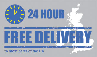 24 hour FREE delivery to most parts of the UK